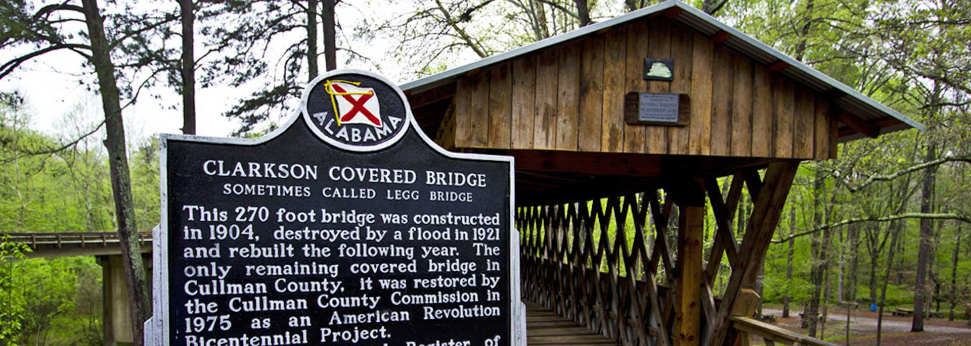 Clarkson Covered Bridge in Cullman County, Alabama